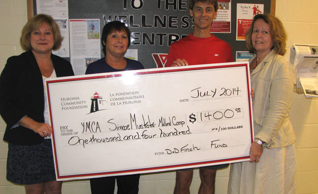 Cheque presentation to the YMCA for $1400