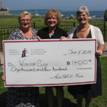 Large cheque presentation to Warm adn Cosy of $1400 from the T and L Gay Fund