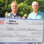 Large cheque presentation to the Huronia Community Foundation from the McQuirter fund